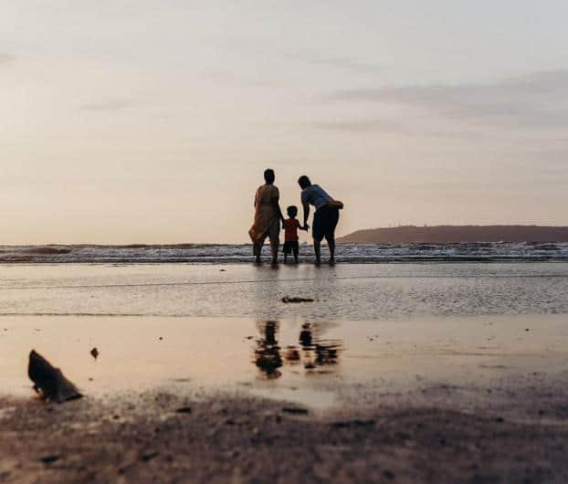 Balade famille plage